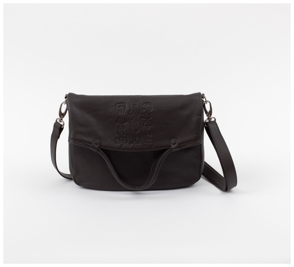 Oktoberdee - Monon Leather Satchel - Totem - Asphalt