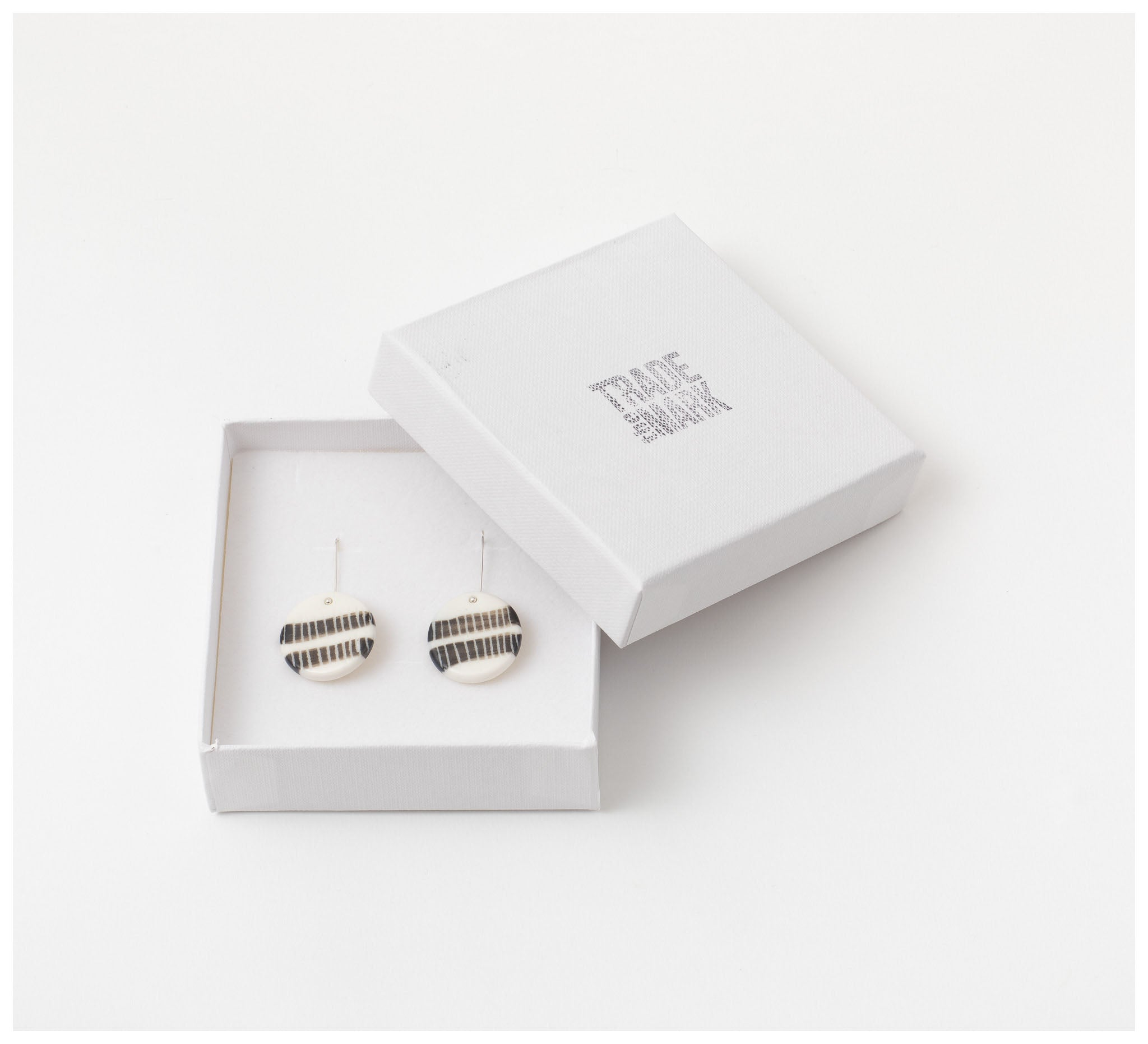Trade the Mark - Two Stripes – Short Drop Earrings