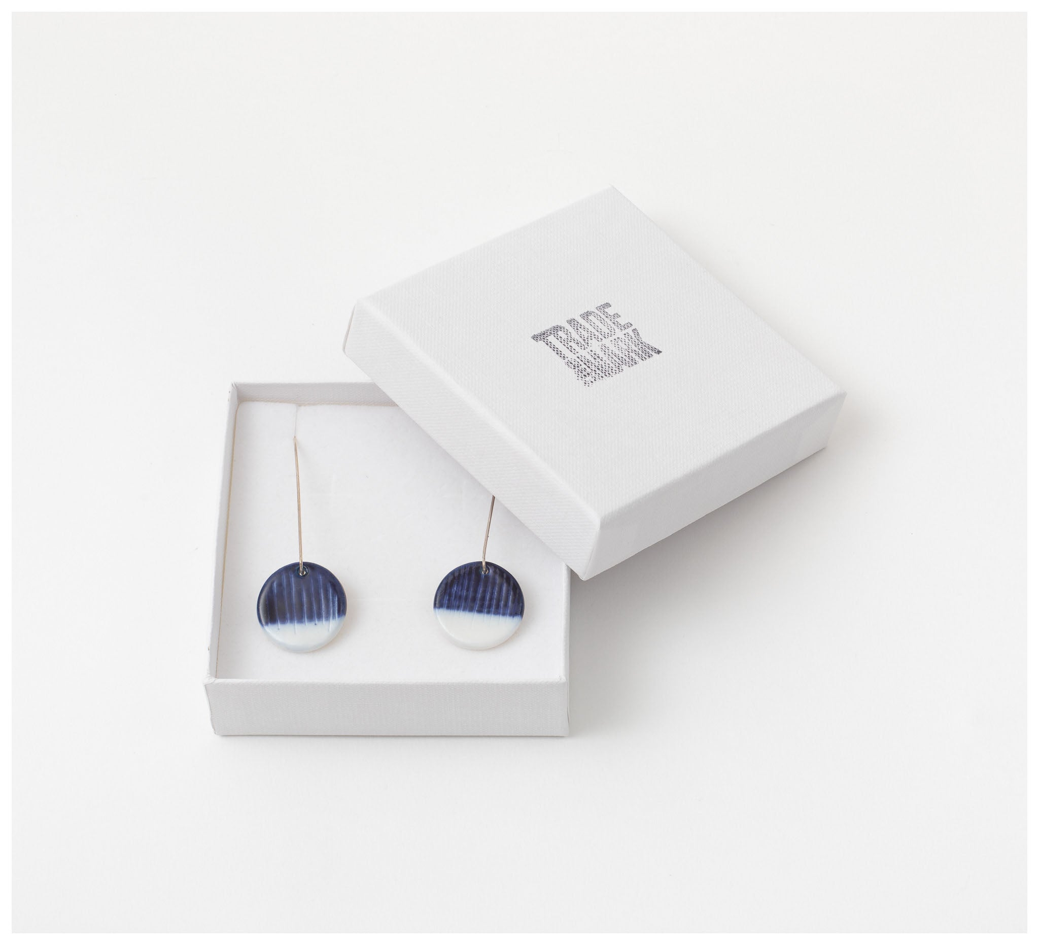 Trade the Mark - Half Moon – Long Drop Earrings
