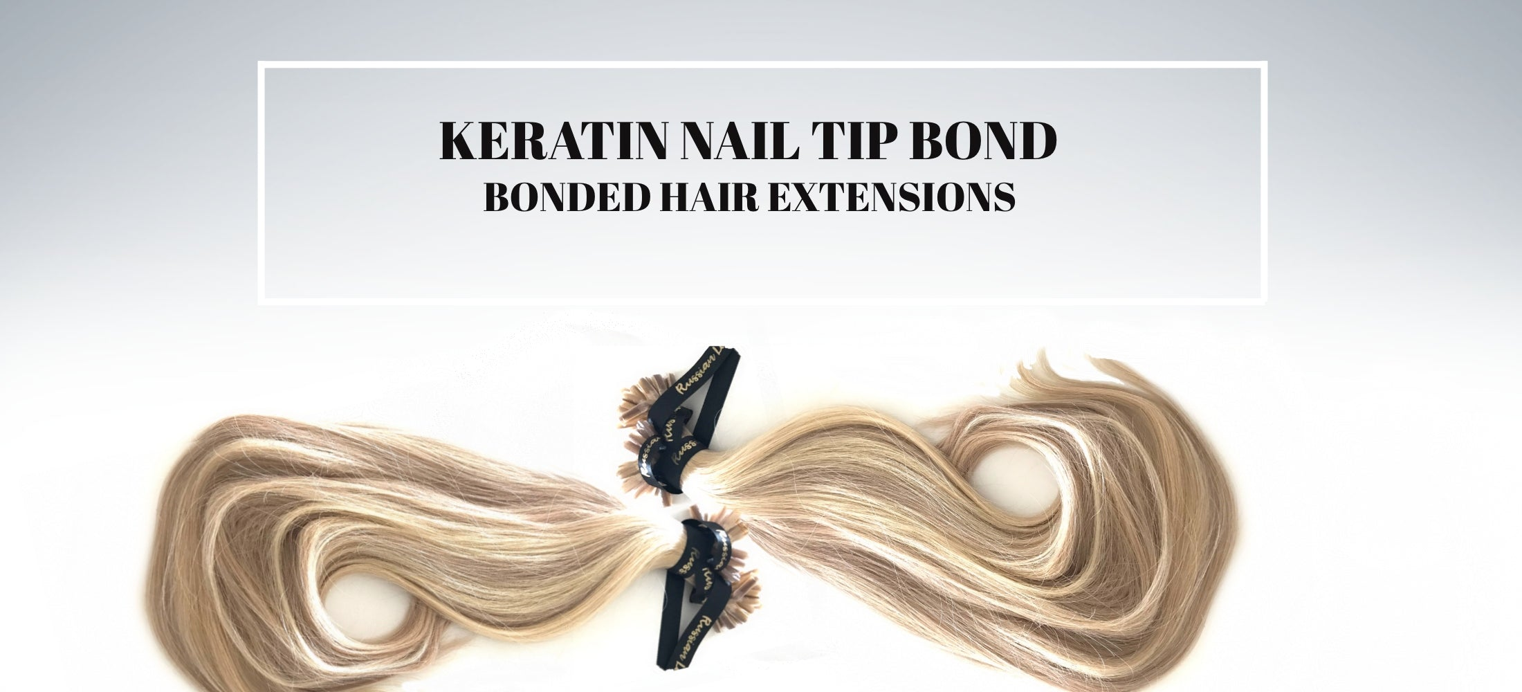 Russian Keratin Nail Tip Bond Hair Extensions