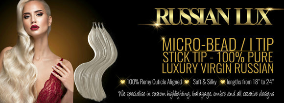 Russian micro bead hair extensions