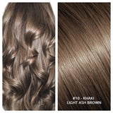 Russian weft weave hair extensions #10 - KHAKI - LIGHT ASH BROWN