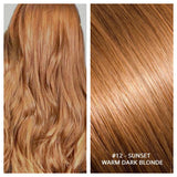 Russian weft weave hair extensions #12 - SUNSET WARM DARK BLONDE