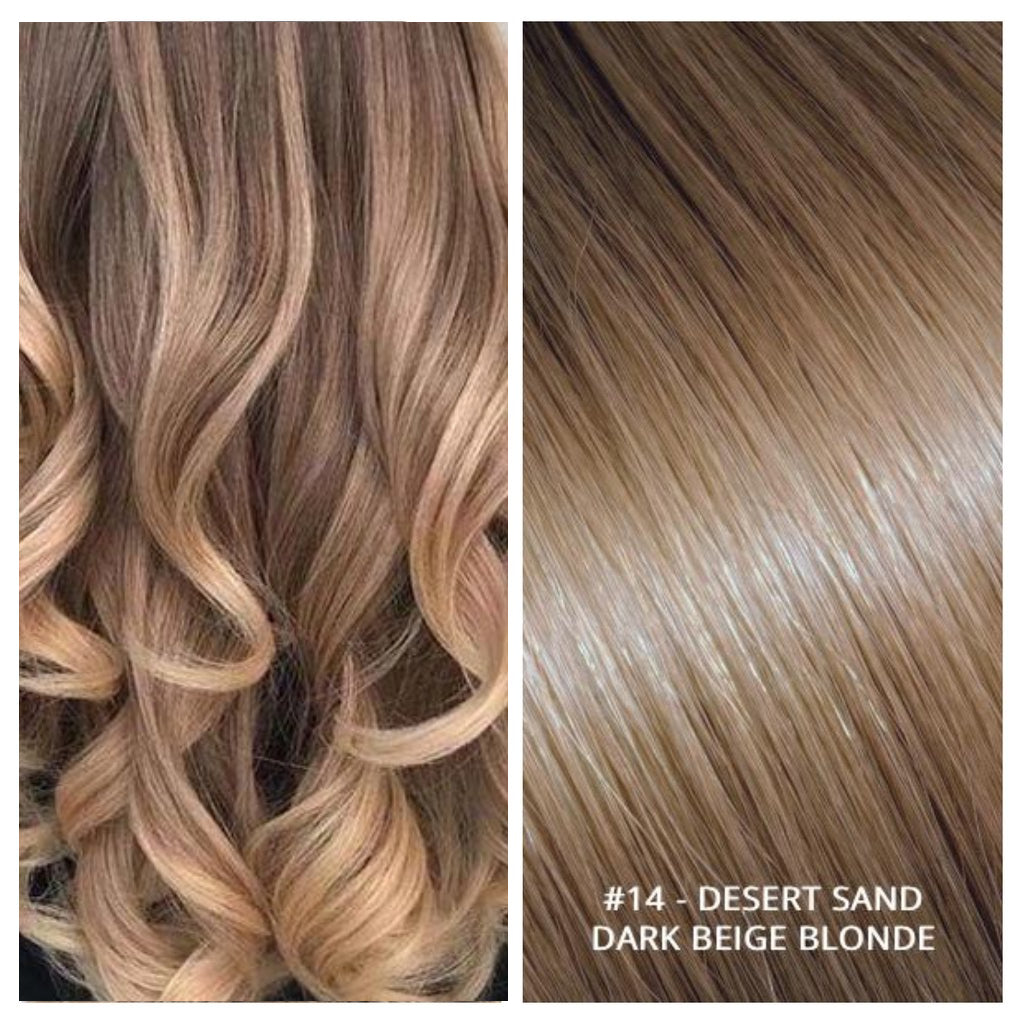 RUSSIAN TAPE HAIR EXTENSIONS #14 - DESERT SAND - DARK BEIGE BLONDE