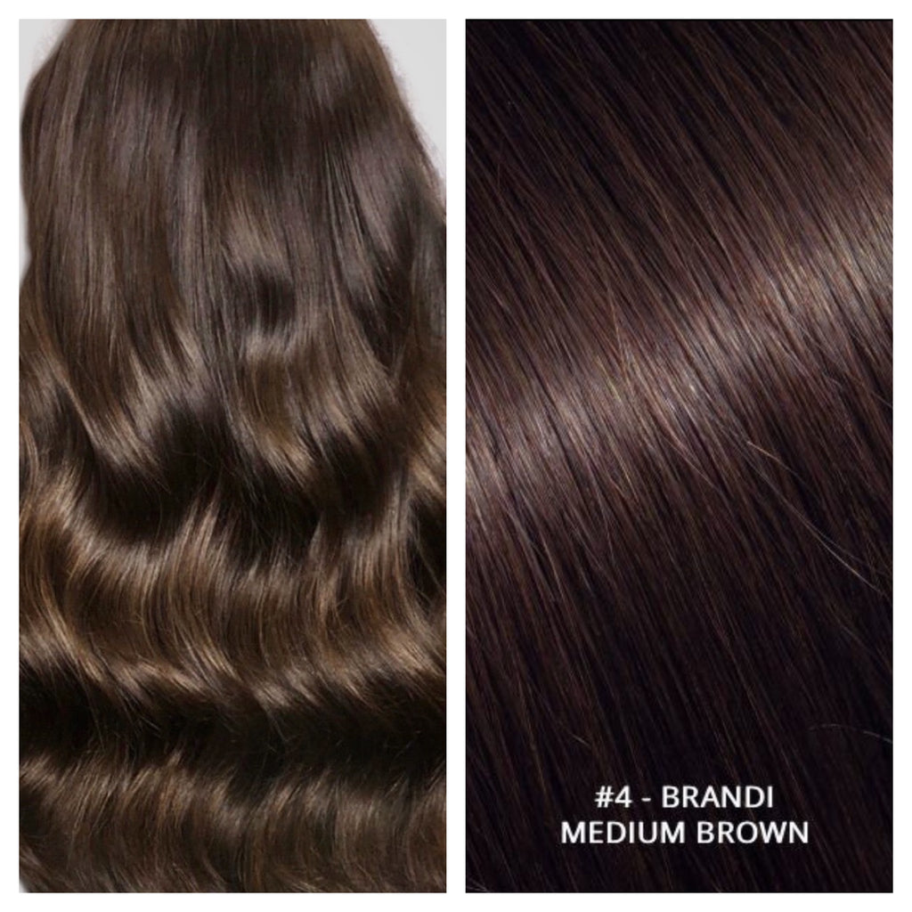 RUSSIAN TAPE HAIR EXTENSIONS #4 - BRANDI - MEDIUM BROWN