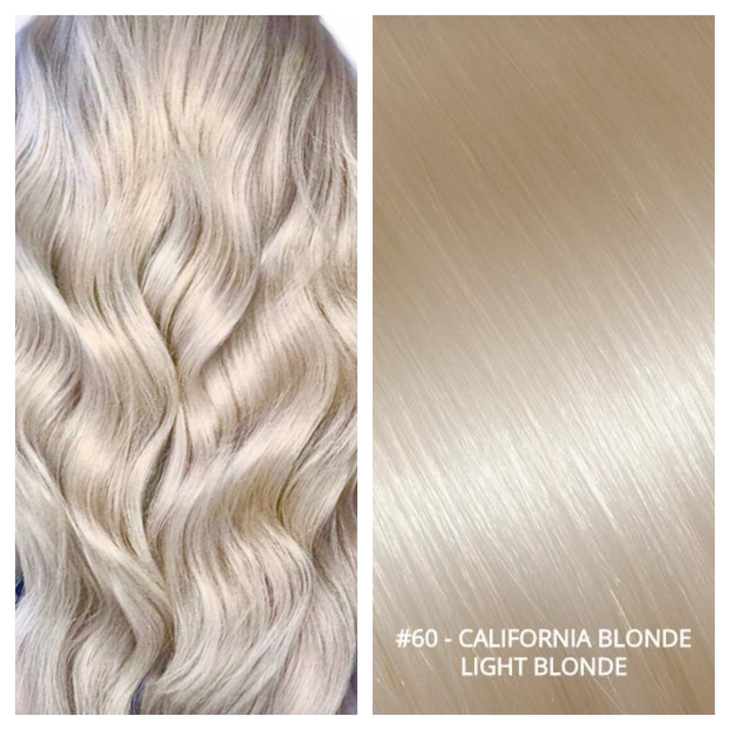 Russian weft weave hair extensions #60 - CALIFORNIA BLONDE - LIGHT BLONDE