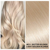RUSSIAN CLIP IN HAIR EXTENSIONS #613 - BUTTER BLONDE - LIGHT GOLDEN BLONDE