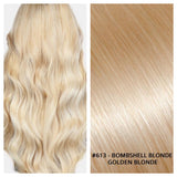 KERATIN BOND NAIL TIP #613 - BOMBSHELL BLONDE - GOLDEN BLONDE RUSSIAN HAIR EXTENSIONS