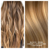 RUSSIAN KERATIN BOND NAIL TIP HAIR EXTENSIONS HIGHLIGHTS #6/22/10 - SIENNA - CARAMEL / LIGHT BLONDE / LIGHT BROWN