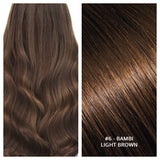 KERATIN BOND NAIL TIP #6 - BAMBI - LIGHT BROWN RUSSIAN HAIR EXTENSIONS