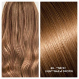 KERATIN BOND NAIL TIP #8 - TOFFEE - LIGHT WARM BROWN RUSSIAN HAIR EXTENSIONS