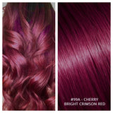KERATIN BOND NAIL TIP #99A - CHERRY -BRIGHT CRIMSON RED RUSSIAN HAIR EXTENSIONS