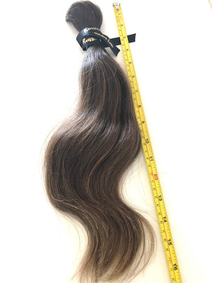 "100% Virgin Natural Brown 17"" Stretched 105 Grams"