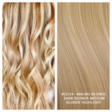 RUSSIAN KERATIN BOND NAIL TIP HAIR EXTENSIONS HIGHLIGHTS #22/24 - MALIBU BLONDE - DARK BLONDE MEDIUM BLONDE HIGHLIGHT