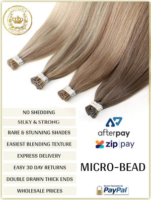 RUSSIAN MICRO-BEAD I TIP HAIR EXTENSIONS 50 GRAMS 50 PIECES
