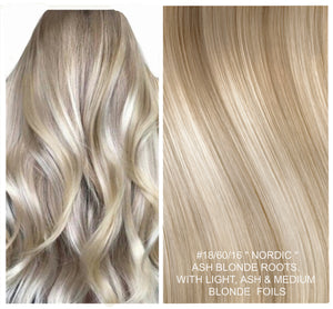 SHORT ROOT STRETCH OMBRE / BALAYAGE - RUSSIAN WEFT / WEAVE HAIR EXTENSIONS 100 GRAMS