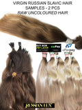 100% RAW VIRGIN SLAVIC HAIR SAMPLE PACKS
