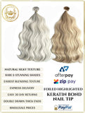 FOILED BLENDS RUSSIAN KERATIN BOND / NAIL TIP HAIR EXTENSIONS 50 GRAMS 50 PIECES