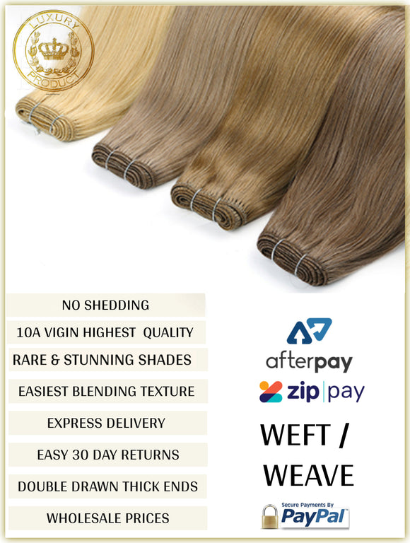 RUSSIAN WEFT / WEAVE HAIR EXTENSIONS 10A GRADE 100 GRAMS