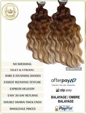 OMBRE / BALAYAGE LONG ROOT STRETCH - RUSSIAN TAPE HAIR EXTENSIONS 50 GRAMS 20 PIECES