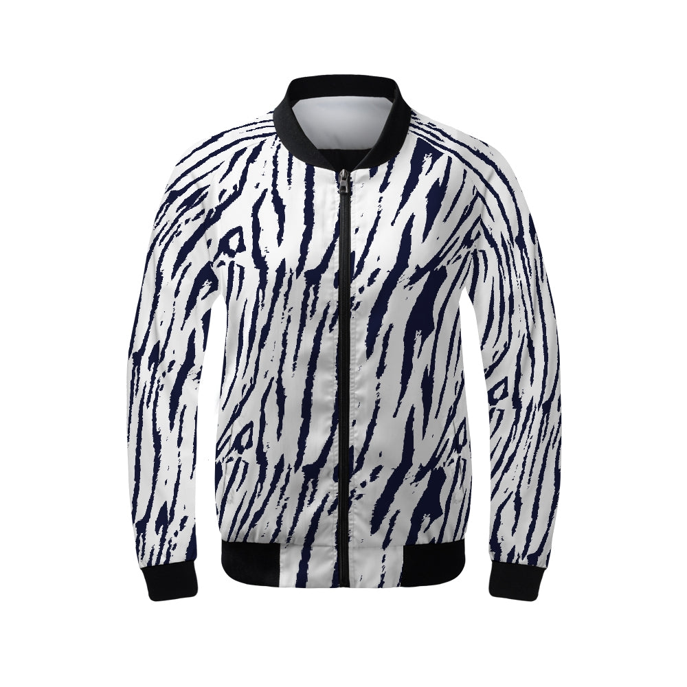 Tiger Print Women's Bomber Jacket