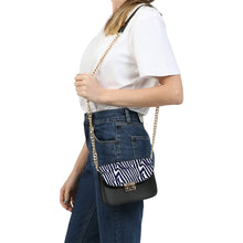 Zebra Print Small Shoulder Bag