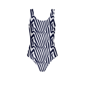 Zebra Print Women's One-Piece Swimsuit