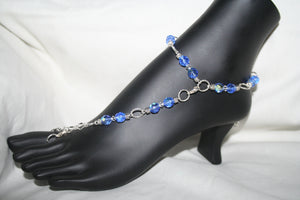 Lite Blue Fancy Barefoot Sandal
