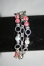 Pink, Black & White Fancy Barefoot Sandal