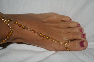 Gold (plated)  Barefoot Sandal