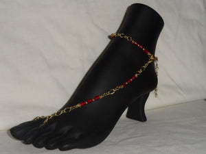 Ruby Red Barefoot Sandal