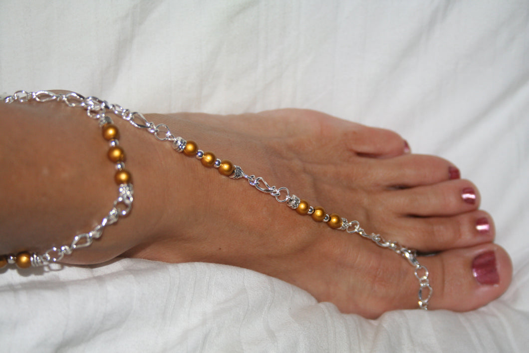 Gold & Silver Barefoot Sandal