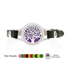 Essential Oil Diffuser Bracelets with Leather twist screw - 25mm