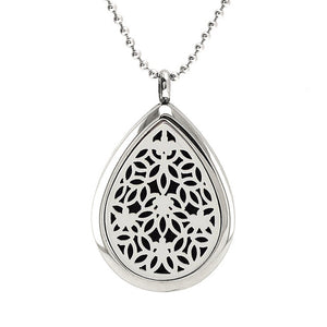 Water Drop Essential Oil Diffuser Necklace - Stainless Steel