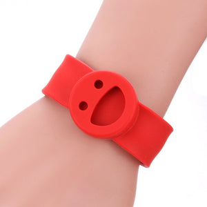 Smile Face Silicone Slap Bracelets Essential Oils Diffuser