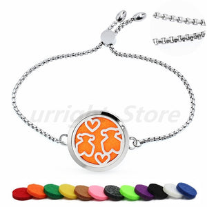 Essential Oil Diffuser Bracelet - Adjustable - Stainless Steel