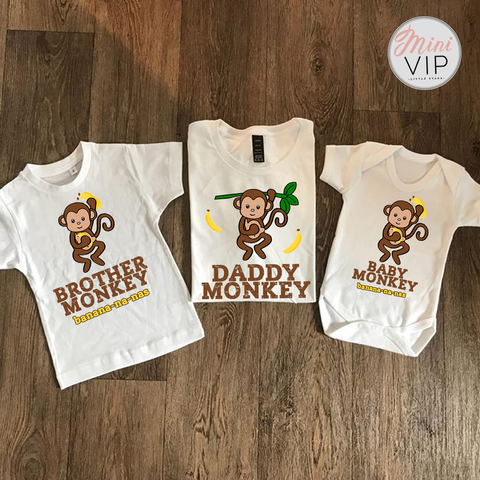 Image of Baby Monkey Banana-na-nas t-shirts - baby & kids sizes