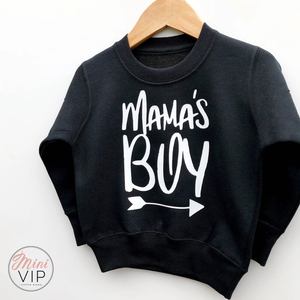 Mama's Boy - Black Sweatshirt