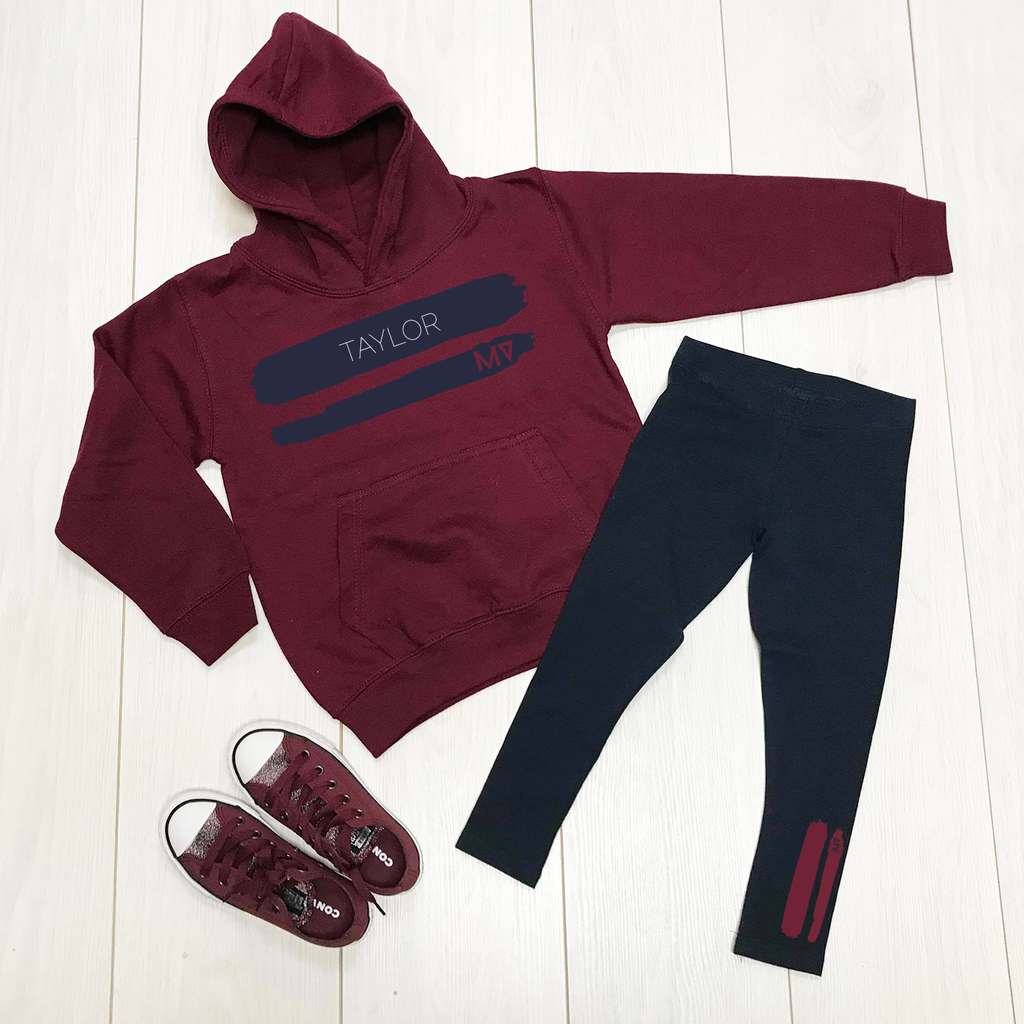 MV originals Paint leggings & hoodie set - Personalised