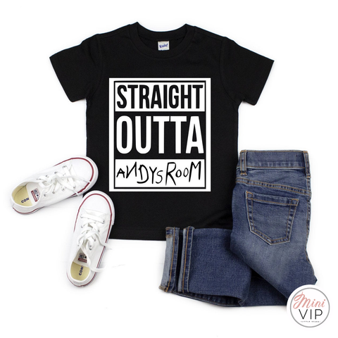 Straight Outta Andy's Room Black t-shirt