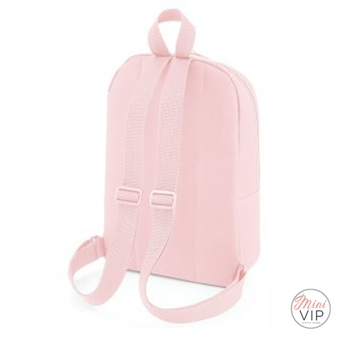 Personalised School Rose Gold Letter Script Mini Back Pack - other bag colour options