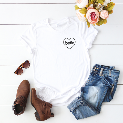 Bestie Heart T-Shirt