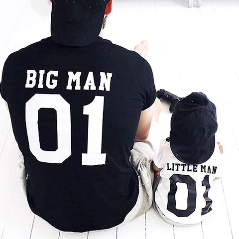 Big Man Little Man Littlest Man Little Lady Littlest Lady - Dad & Kids Matching T-Shirts