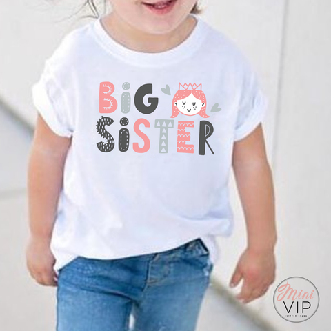 Big Sister Graphic White T-Shirt