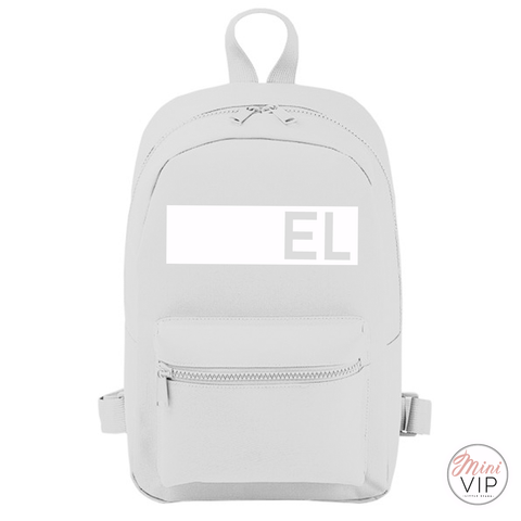 Image of Personalised Block Name Mini Back Pack - other bag colour options