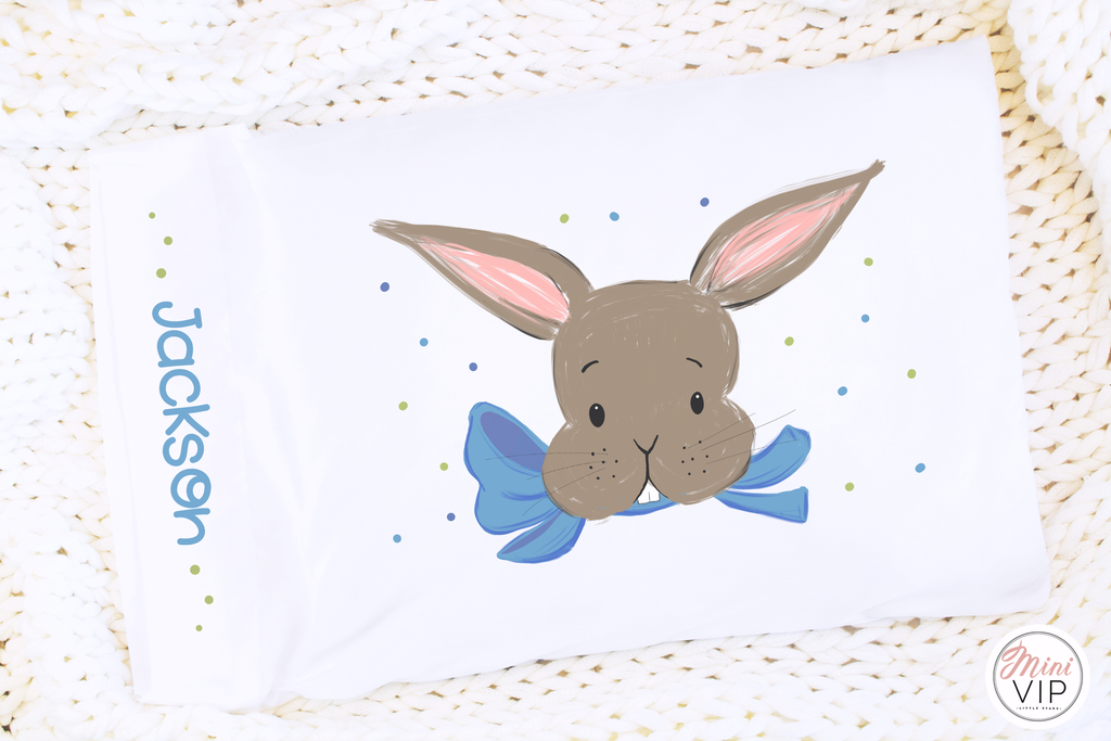 Easter Bunny Personalised Pillowcase