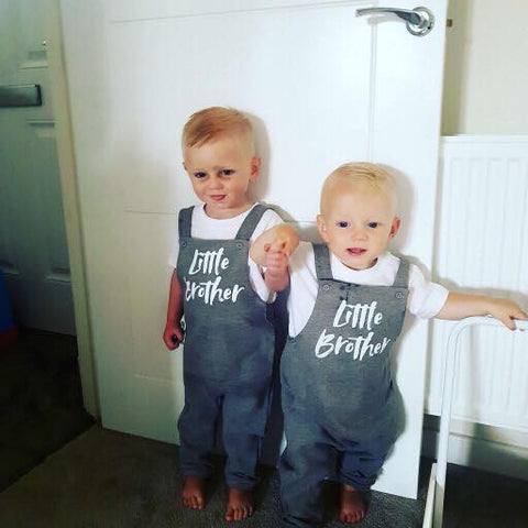 Image of Big Brother & Little Brother Twinning Dungarees! 6 Months up to age 6 years.