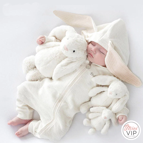 Image of Cute Bunny Romper/All in One - personalisation available