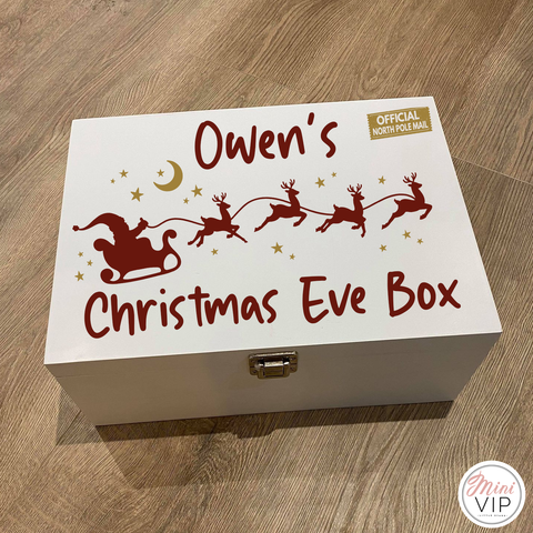 Personalised Luxury Wooden Christmas Eve Box