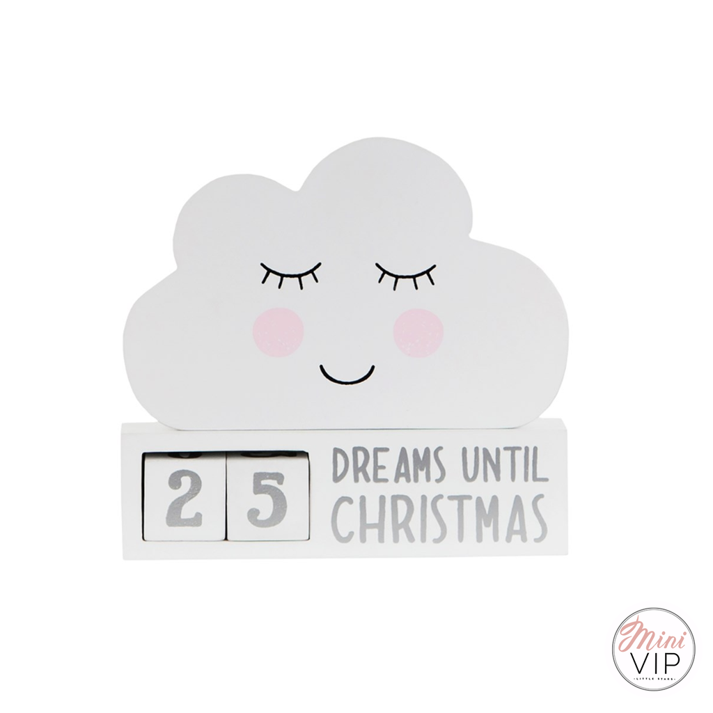 Cloud Shape Christmas Countdown Decoration
